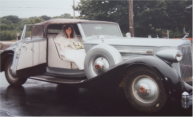 1935 Packard.  Oh, and a bride.